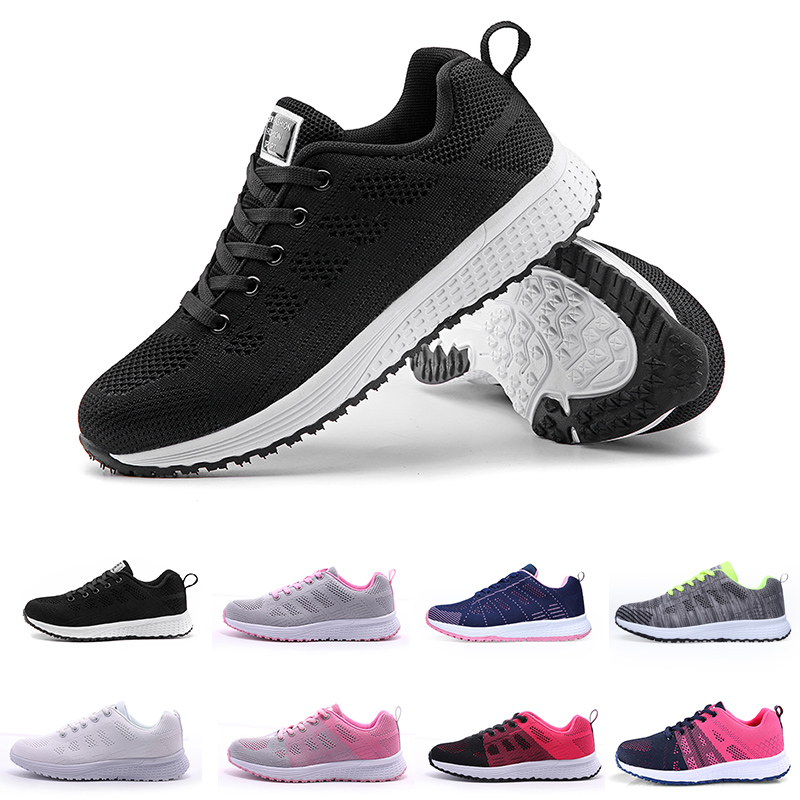 Fashion Women Flat Shoes Casual Mesh Lace Up Sneakers Trainers Basket Off White Breathable Footwear Gifts For Women Tenis