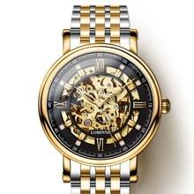 Switzerland Watch Men LOBINNI MIYOTA Automatic Mechanical Watches Gold Steel Sapphire Skeleton Clock relogio masculin  9010M-9 true nyc бермуды