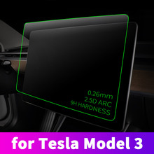 цены for Tesla Model 3 15 inch central control navigation film protective film car touch screen tempered glass protective film