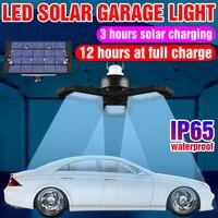 LED Solar Licht Wasserdichte Solar Kronleuchter Lampe Außen Beleuchtung Hof Notfall Lampen 60W 80W LED Tragbare Camping Garage licht