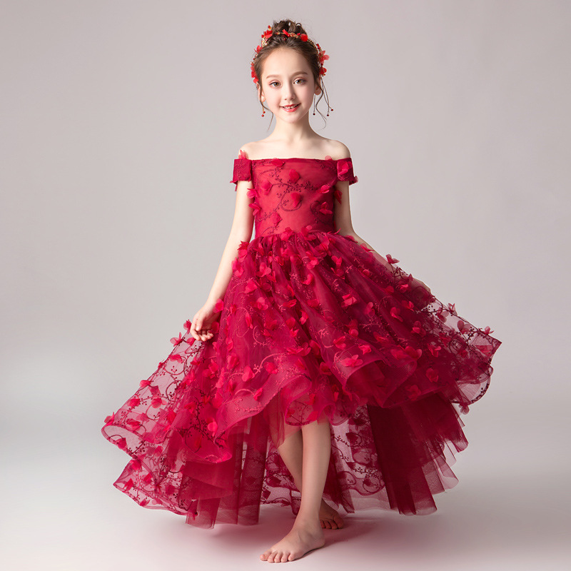 Flower Boys/Flower Girls Wedding Dress Western Style Puffy Yarn Girls Catwalks Evening Gown GIRL'S Piano Costume Princess Dress