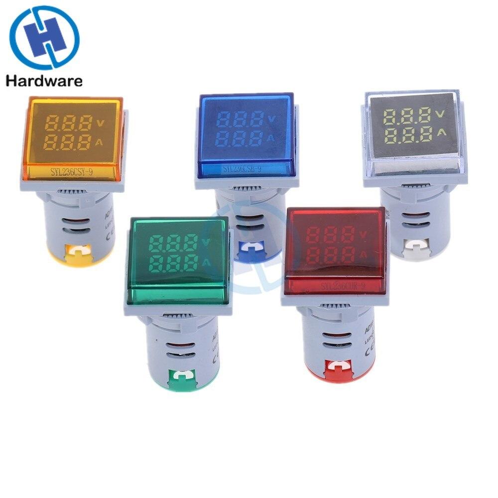 New Square LED Digital Dual Display Voltmeter Ammeter Voltage Gauge Current Meter Measurement  AC 60-500V 0-100A