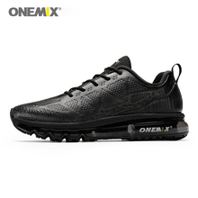 ONEMIX Running Shoes For Men Air Cushion Sneakers Breathable Mesh Walking Shoes Black Sneakers Outdoor Jogging Gym Fitness Max onemix men flash running shoes air cushion wearable sport shoes breathable comfort fitness sneakers outdoor casual walking shoes