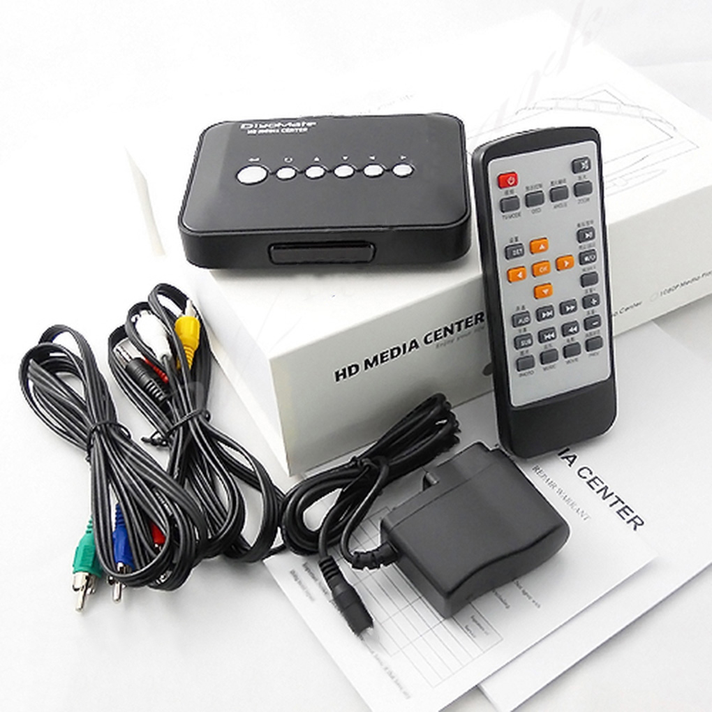 Multimedia Player Mini HD 720P HDD Media Player TV Box AV Output MKV RM SD USB SDHC MMC HDD EU/US/UK/AU Plug