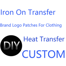 thermo stickers iron on transfers for clothing custom iron on transfer brand logo patch badge applique for clothes stripe badges