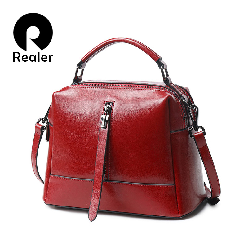 REALER Women Handbags Female Crossbody Shoulder Bag High Quality PU Leather Messenger Bags For Ladies Big Totes Large Capacity
