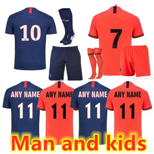 Tracksuit-Shirt Jerseys-Kits Soccer Football Name-Number Customized Training Kids Orange