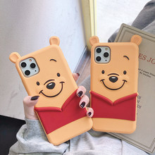 Winnie the Pooh Apple Mobile Shell Disney iphone 11 Pro Max Xs XR 6 7 8 Plus Mobile Shell Silicone Cartoon Cute Protective Case(China)