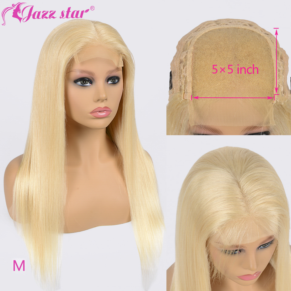 Brazilian Wig 5x5 Lace Closure Wig 613 Blonde Wig Straight Human Hair Wigs For Black Women Jazz Star Hair Non-Remy 150% Density