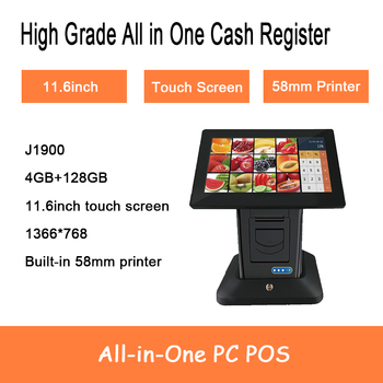 Windows 11.6 Inch Touch Screen 4G RAM 128G SSD Build in 58mm thermal printer All In One PC Pos Terminal Cash Register windows 11 6 inch touch screen 4g ram 128g ssd build in 58mm thermal printer all in one pc pos terminal cash register