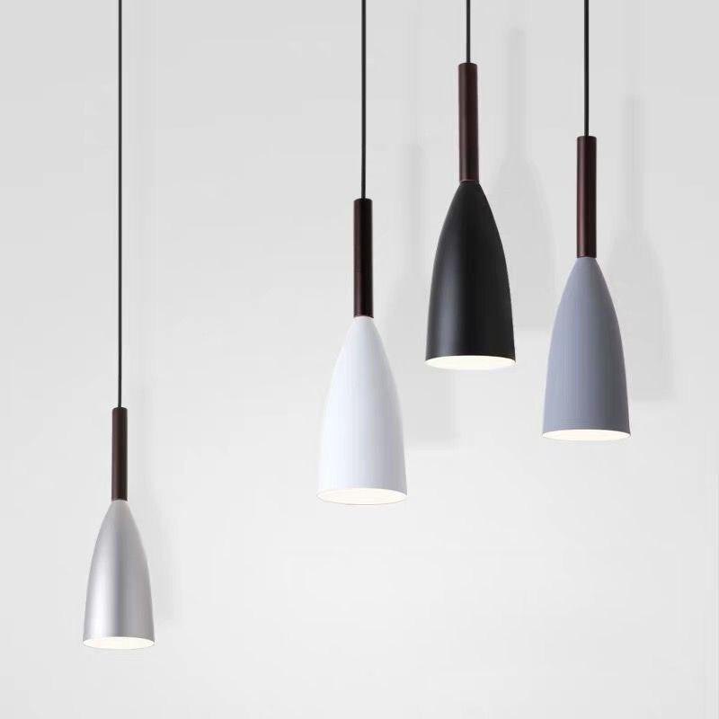Прикроватная лампа светодиодная люстра Nordic спальни современные одна осветительная головка, простые лампы длинная линия ресторан лампа бар стойка маленькая люстра|Подвесные светильники| | АлиЭкспресс