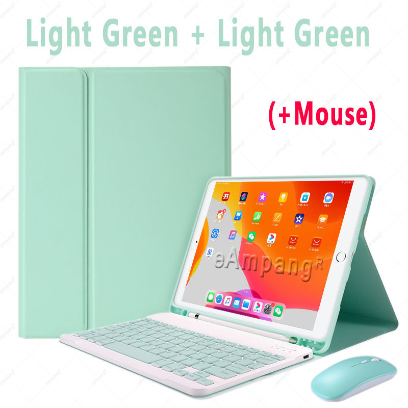 Green with Mouse Blue Keyboard Case With Wireless Mouse For iPad Air 4 10 9 2020 4th Generation A2324 A2072