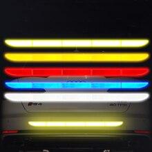 Автомобильный стикер светоотражающий сигнальный защитный скотч пленка Авто полоса декоративный элемент для бампера отражение анти наклейки против столкновения автомобильные аксессуары