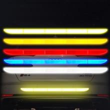 車のステッカー反射警告安全テープフィルム自動ストリップ装飾バンパー反射防止衝突ステッカー車のアクセサリー