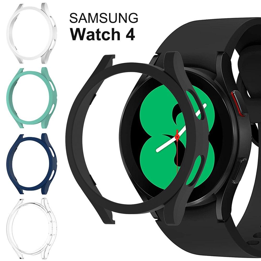 Funda de reloj para Samsung Galaxy Watch 4, 40mm, 44mm, carcasa protectora envolvente de PC para Galaxy Watch4