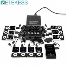 Wireless Tour Guide System 1 Charging Base +1 Transmitter+10 Receivers T131 + Mic for Guiding Conference translation