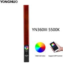 YONGNUO YN360 III YN360III يده LED الفيديو الضوئي 5500k RGB درجة حرارة اللون للاستوديو في الهواء الطلق التصوير الفوتوغرافي وتسجيل الفيديو