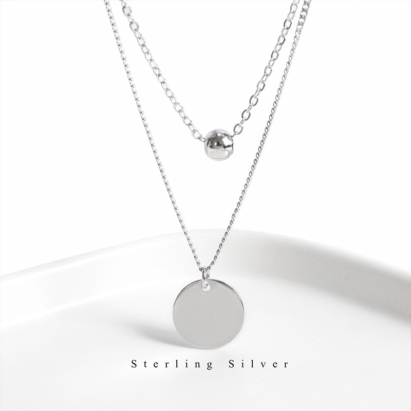 ZOBEI Real 925 Sterling Silver Necklace Fine Jewelry For Women Romantic Engagement Accessories Gift