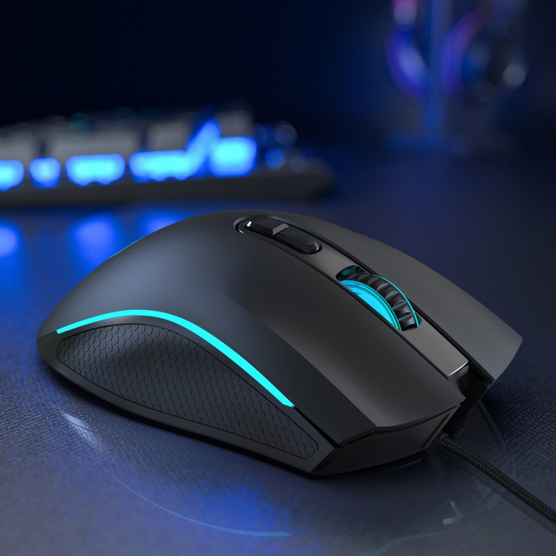Creative And Durable Wired Gaming Mouse USB RGB Optical Mice 6 Adjustable 7200 DPI Macro Programme Mouse image