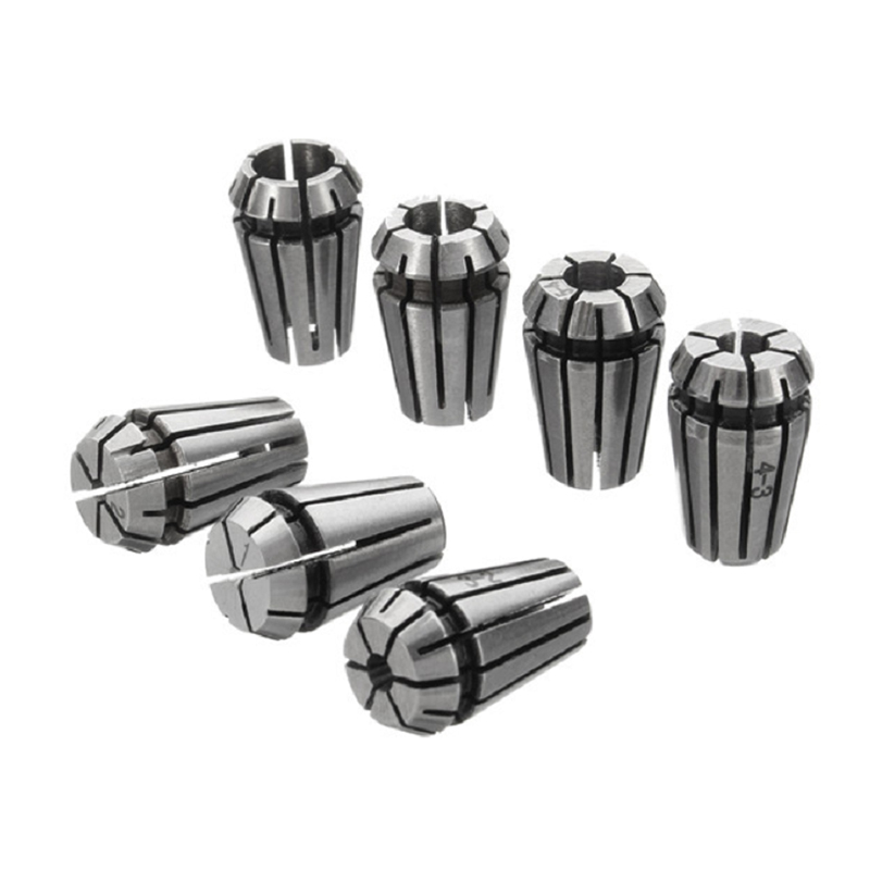ER11 Spring Collet 1 2 3 4 5 6 7mm with 5mm ER11A Extension Rod Motor Shaft Holder Dropshiping 7pcs High Carbon Steel in Tool Holder from Tools