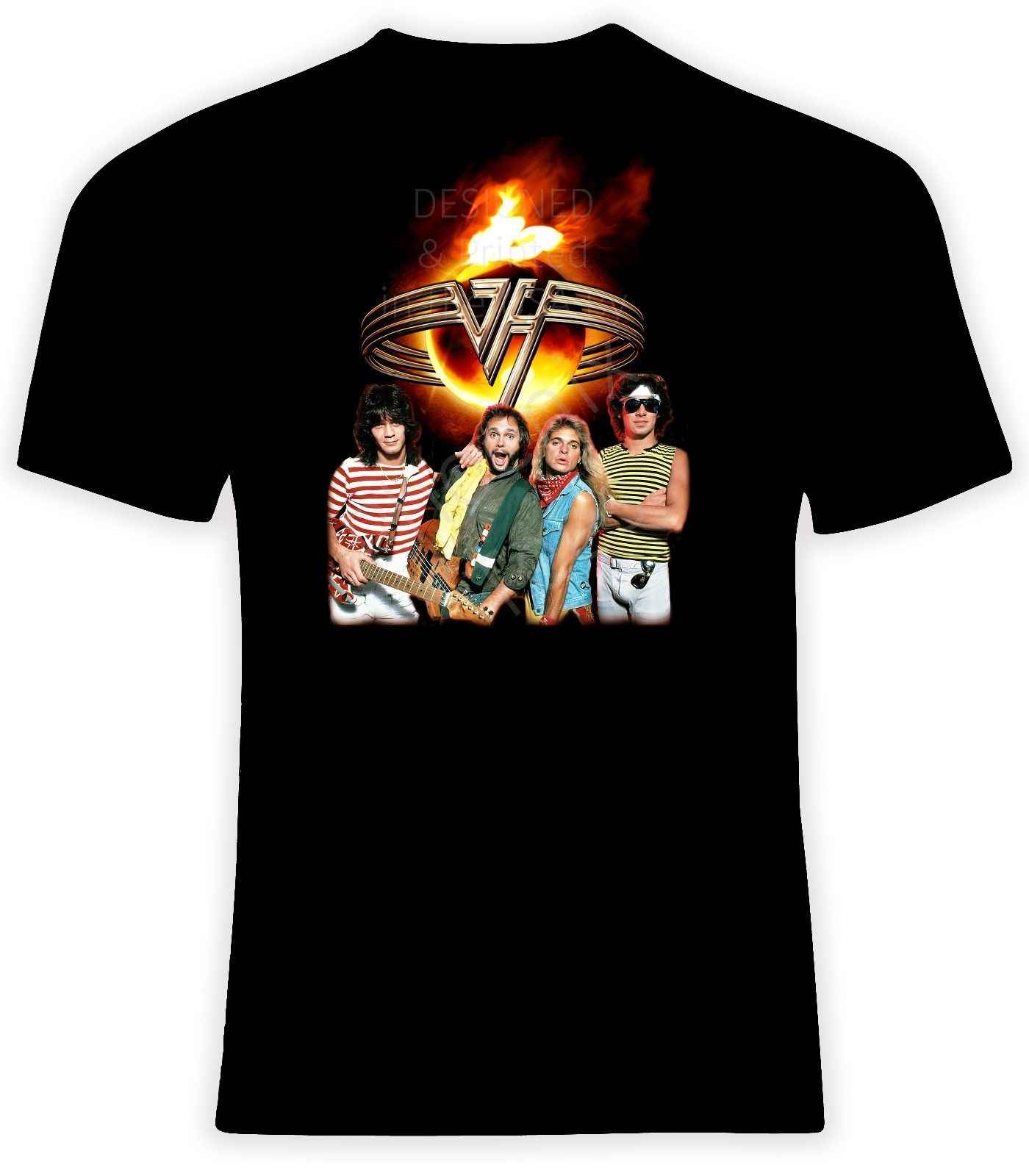 Van Halen With David Lee Roth T Shirt Sizes S 6X Short Or Long Sleeve