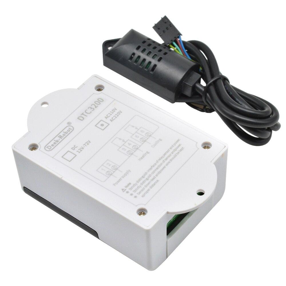 Светодиодный цифровой термостат регулятор температуры для инкубатора терморегулятор реле обогрева охлаждения 110В 220В заменить НТС-1000