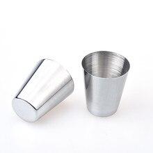 6 Pcs Stainless Steel Metal Beer Cup Wine Cups Coffee Tumbler Tea Milk Mugs Home Drop Shipping 12.13