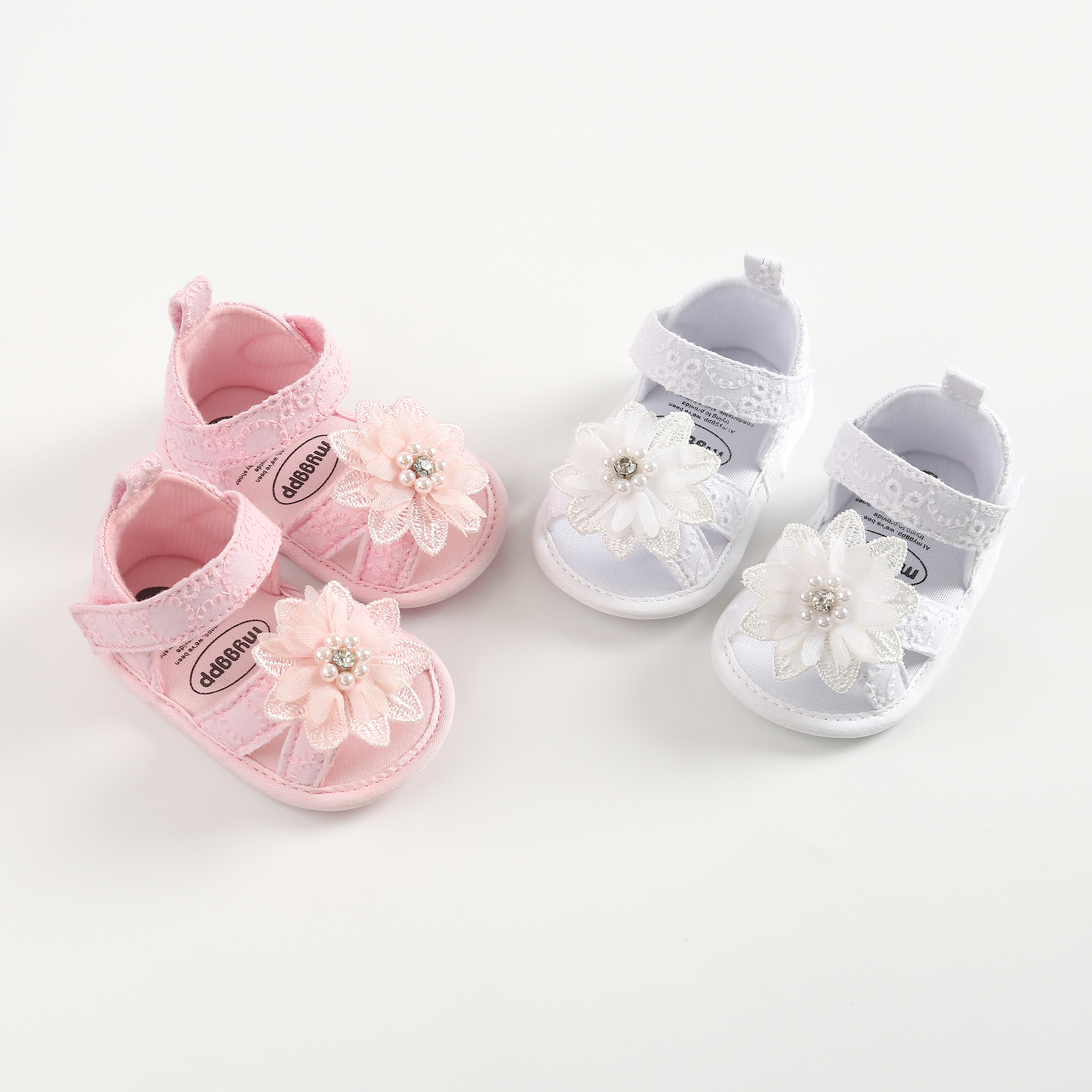 Baby  Toddler Girl Soft Sandals   Baby Girl Shoes Summer Cute Flower Headband Princess Shoes Infant Girls Sandals