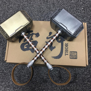 [Metal Made] Cosplay Collection The  Thor 1: 1 Simulation Hammer Toy Child Adult Party Costume Thor Hammer Replica Model movie thor ragnarok cosplay thor odinson costume men thor cosplay costume thor 3 outfit halloween carnival costume for adult