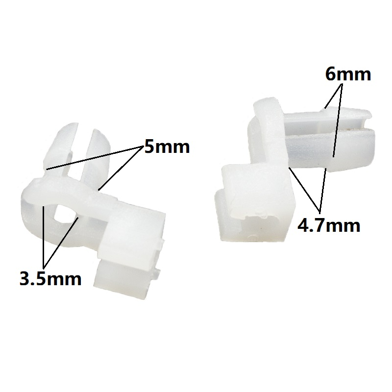 30 Window Belt Moulding Clip Wht Nylon Retainer Fastener 91510-SR3-003 For Honda