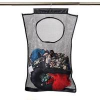 1 pçs malha lavanderia cesta dobrável pendurado armazenamento cesta portátil saco de economia de espaço adequado para limpeza|Sacos lavan.|Casa e Jardim -