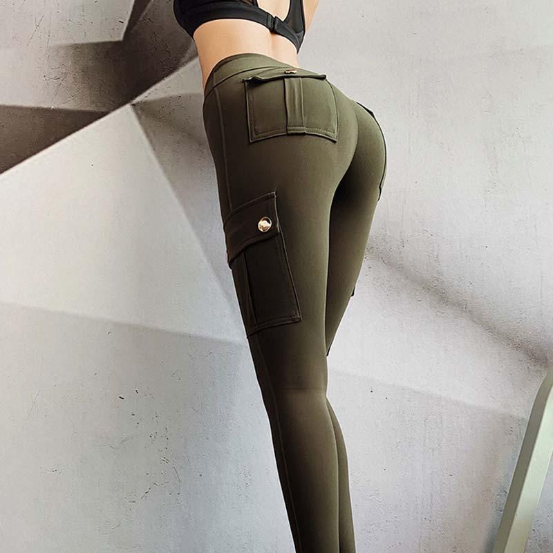 SALSPOR-Women-Military-Style-Sport-Leggings-Gym-Slim-Fit-Pocket-Sweatpants-Outdoor-Running-Fitness-Pants-High