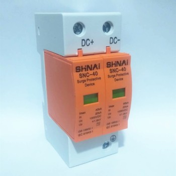Surge Protective Device SPD DC 500V 660V 800V 1000V 2P DC1000V 20KA~40KA  Low-voltage Arrester  House din rail 2 Poles Protector 2p surge protective device dc photovoltaic lightning protector low voltage arrester