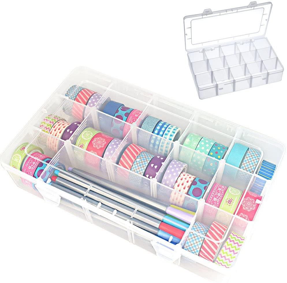 Washi Tape Box Organizer Storage Masking Tape Desktop Tape Diy Sticker Roll Tape Holder Storage