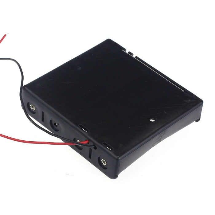 30 @ siyah plastik 18650 pil saklama kutusu kutusu 1 2 3 4 yuvası yollu Diy piller klip tutucu konteyner tel kurşun Pin