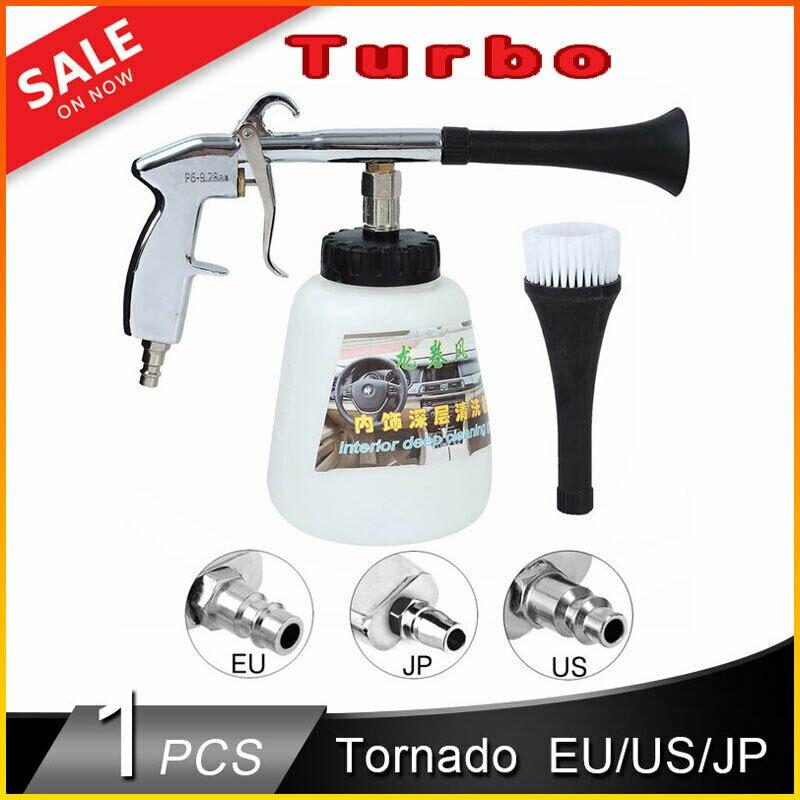 Aletler'ten Sprey Tabancaları'de Tornador araba yıkama tabancası yüksek basınçlı temiz aracı derin kuru temizleme yıkama kitleri hava kompresörü ab EC abd JP adaptörleri title=