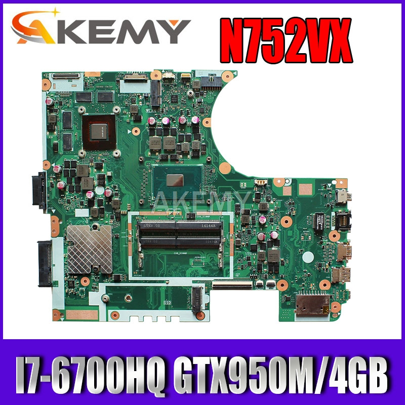 Akemy N752VX <font><b>I7</b></font>-<font><b>6700HQ</b></font> CPU GTX950M/4GB laptop motherboard for ASUS N752 N752V N752VX N752VW laptop Motherboard 90NB0AY0-R00020 image