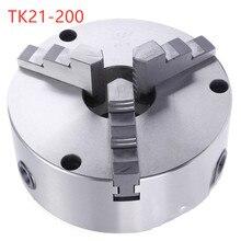 TK21-200 3-кулачковый Самоцентрирующийся Зажимной патрон спереди перфорации