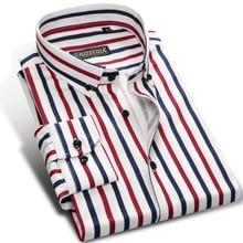 Urlaub Casual Multi Farbe Vertikale Streifen Shirts Tasche weniger Design Langarm Standard fit Taste unten Männer mode Shirt