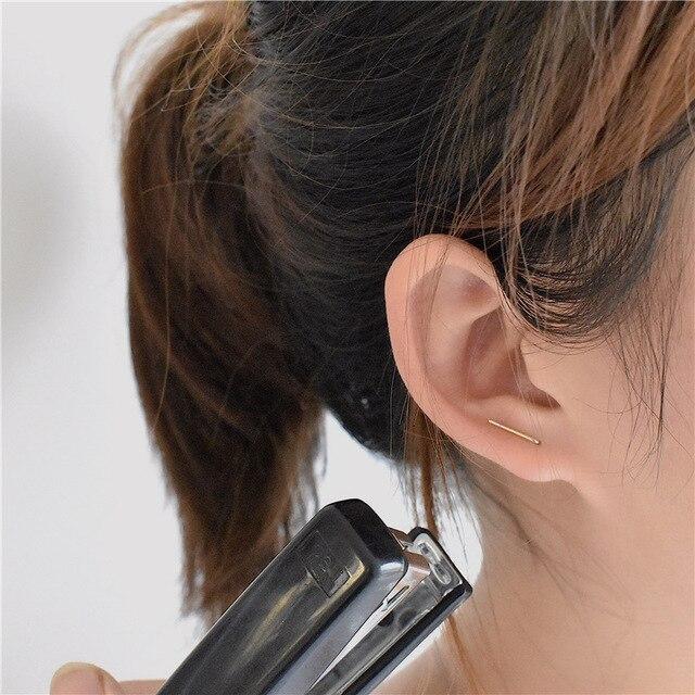 tiny T stud earrings Slim staple earring T bar earring Women minimalist jewelry Minimal jewelry Small.jpg 640x640 - tiny T stud earrings Slim staple earring T bar earring Women minimalist jewelry Minimal jewelry Small gifts