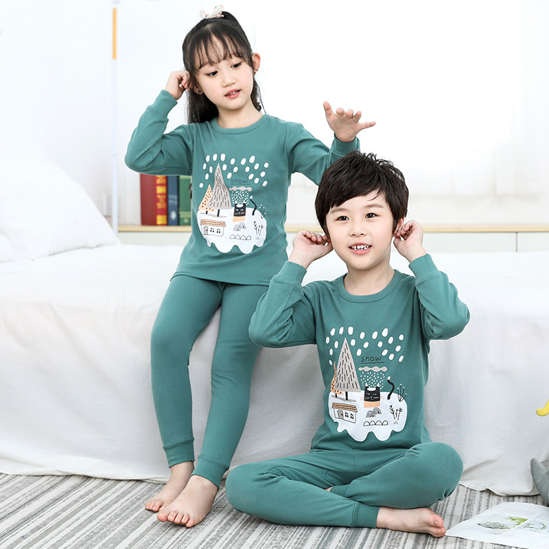 Kids Pajamas Sets Boys Girls 100% Cotton Night Suit Children Cartoon Sleepwear Pyjamas Kids Cotton Nightwear 2-13Y Teens Clothes