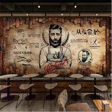 Papel de pared de tienda de peluquería Retro nostálgico papel de pared de tienda de peluquería 3D decoración industrial Fondo Mural papel tapiz 3D