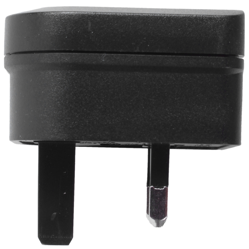 1X Euro 2 Pin to 3 Pin Converter Plug Adapter Black Q5Z3 2C
