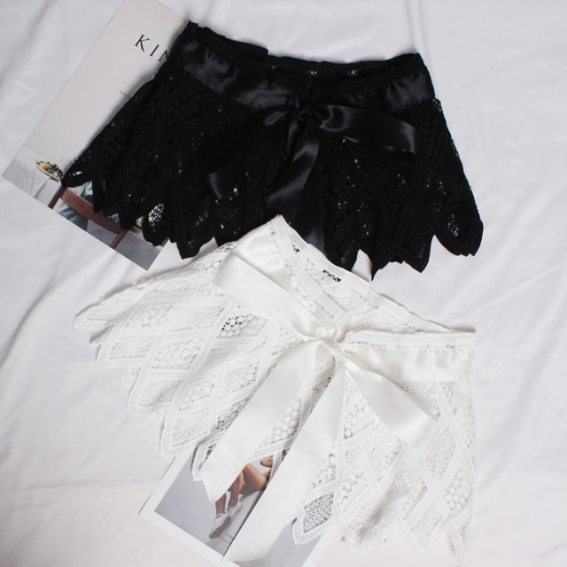 Hot Sale New Fashion Trendy Fashion Corset Belts For Women Solid Lace Panel Drawstring Wide Belt Sweat Mini Skirt Female ZK297 4