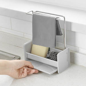 Rack-Dish Storage-Shelf Cloth-Drain-Racks Desktop Kitchen Free-Punching-Sponge-Soap Multi-Function