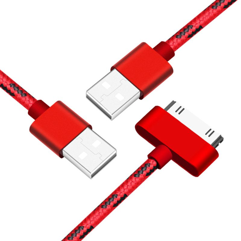 For iphone4 cable 30pin USB Data Sync Charging Cable for iPhone 3G 4 4s iPad 2 3 iPod X6HB