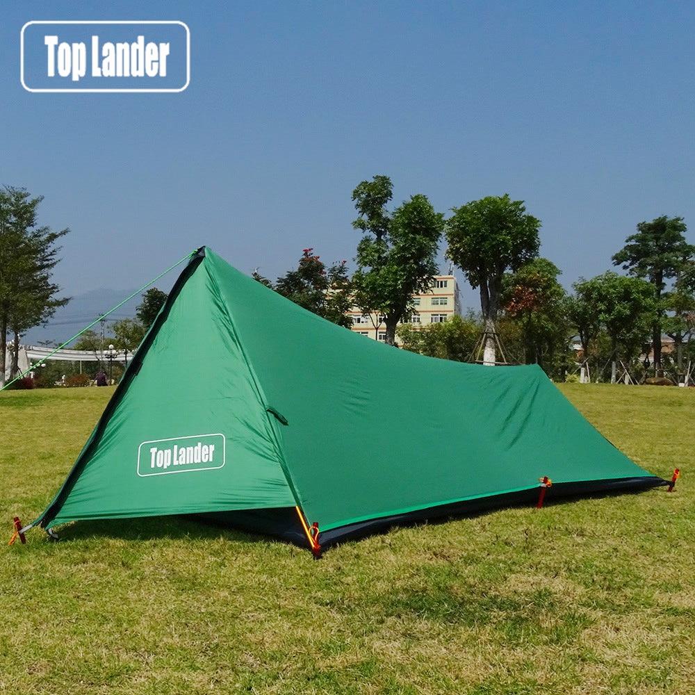 Сверхлегкая палатка с Башней, 1 человек, водонепроницаемая палатка для кемпинга, походов, альпинизма, одинарная, 20 d, силиконовая, одна мужская палатка Палатки      АлиЭкспресс