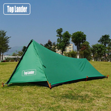 A Tower Ultralight Tent 1 Person Camping Tent Hiking Mountain Backpacking Waterproof Single Bivvy Tent 20D Silicone One Man Tent