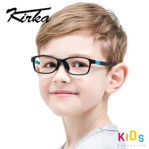 Image 1 - Çocuklar gözlük TR90 esnek gözlük çerçevesi çocuk siyah çocuklar optik gözlük erkek gözlük spor gözlük çocuk gözlük