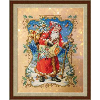 Robótki majsterkowanie ściegiem krzyżykowym zestawy do haftu 14CT i święty mikołaj prezenty tanie i dobre opinie Obrazy christmas PACKAGE 100 COTTON Other Składane
